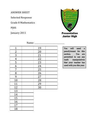 SLZUSD Grade 6 Final Exam Study Guide 2008-09