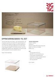 OPPBEVARINGSBOKS TIL OST - stelton