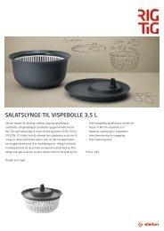 SALATSLYNGE TIL VISPEBOLLE 3,5 L - RIG-TIG by Stelton