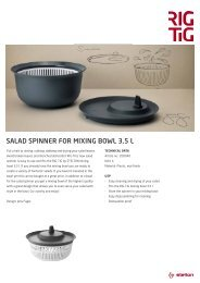 SALAD SPINNER FOR MIXING BOWL 3,5 L - RIG-TIG by Stelton