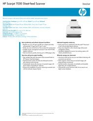 HP Scanjet 7000 Sheet-feed Scanner - Product documentation