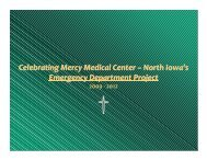 North Iowa's Emergency Department Project - Mercy Medical Center ...