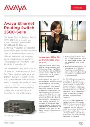 Avaya Ethernet Routing Switch 2500 Series