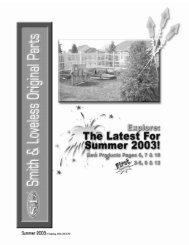 Summer 2003 Parts Catalog - Smith & Loveless Inc.