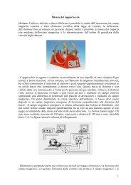 5 sessione di laboratorio: Carica specifica dell'elettrone