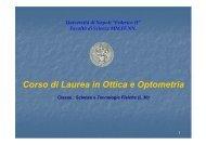 Presentazione del Corso di Laurea in Ottica e Optometria (versione ...