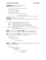 Lenguajes d e p ro gram ac ió n (2 0 0 4 /0 5 ) C é s ar J ... - IES Drago