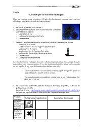 La cinétique des réactions chimiques - IES Drago
