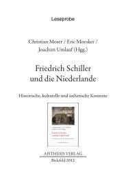 Friedrich Schiller und die Niederlande