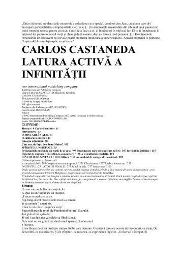 carlos castaneda latura activă a infinităţii - ideaticabluescafe