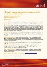 )) Soziale Arbeit und Erwachsenenbildung im Dialog