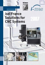 isel France Solutions for CNC Systems