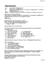 Michael & Linda Pullins Dear Executive Committee Members ... - nrlhf