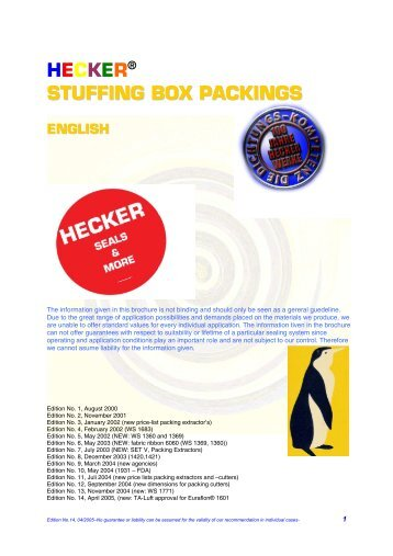 Download Stuffing box packings catalog as pdf file - ADR