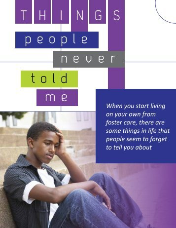 Things People Never Told Me - Department for Children and Families