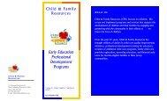Early Education Professional Development Programs