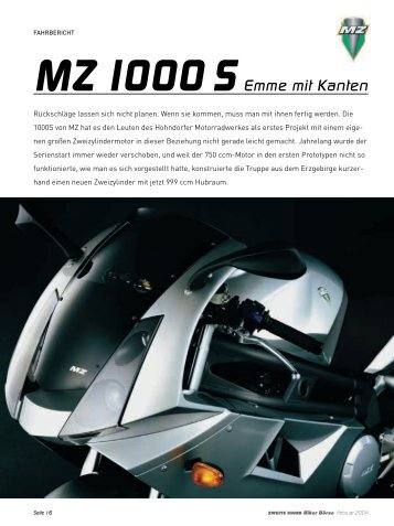 MZ 1000 SEmme mit Kanten