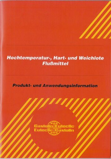 Castolin 1802 D - Vogel Rahmenbau