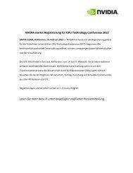 NVIDIA startet Registrierung für GPU Technology Conference 2012 ...