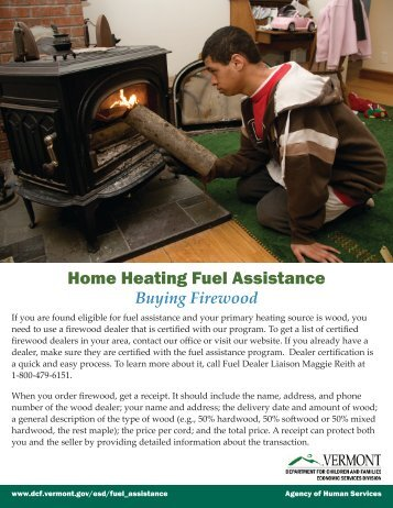 Home Heating Fuel Assistance - Vermont.gov