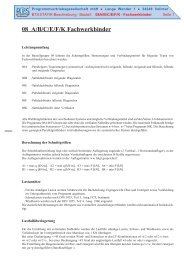 08 A/B/C/E/F/K Fachwerkbinder