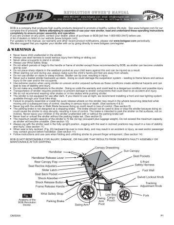 infant car seat adapter instructions bob trailers and strollers rh yumpu com Bob Revolution Duallie Bob Revolution Stroller
