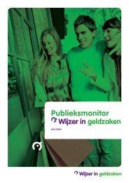 Publieksmonitor Wijzer in geldzaken juni 2010