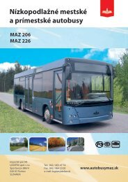 Nízkopodlažné mestské a prímestské autobusy MAZ 206 ... - logitex.sk