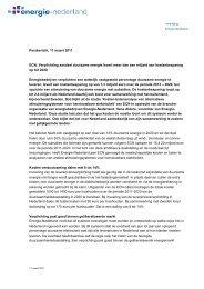 Persbericht over het ECN-onderzoek - Energie-Nederland