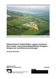 Eidgenössische Volksinitiative «gegen masslosen Bau ... - vlp-aspan