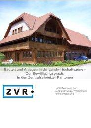 Bauten und Anlagen in der Landwirtschaftszone – Zur ...