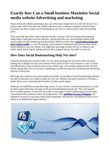 Exactly how Can a Small business Maximize Social media website Advertising and marketing.pdf