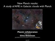 New Planck results: A study of AME in Galactic clouds with Planck