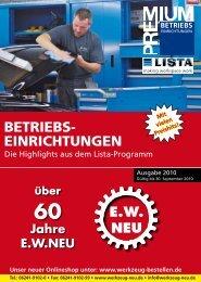Lista Selection 75/200 - EW NEU GmbH Worms/Speyer (Germany ...