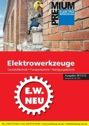 Elektrowerkzeuge 2011 / 2012 - EW NEU GmbH Worms/Speyer ...