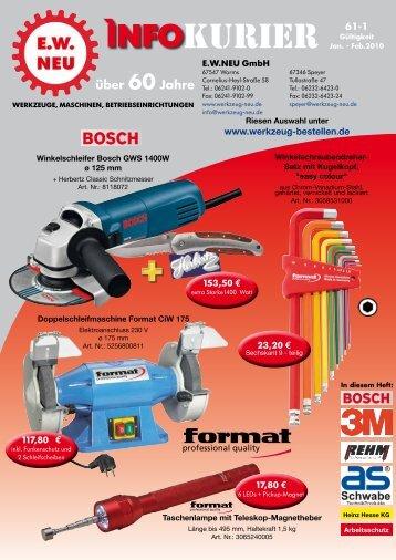 KURIER ìnfo - EW NEU GmbH Worms/Speyer (Germany) – tools ...