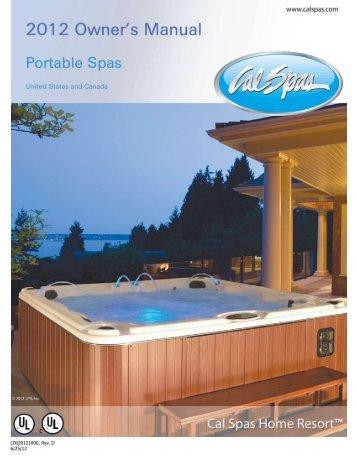 Owners Manual - Cal Spas