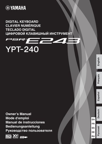 PSR-E243/YPT-240 Owner's Manual - Amis-Music.Kiev.UA ...