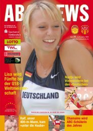 Lisa wird Fünfte bei der U18- Weltmeister- schaft - ABC Ludwigshafen