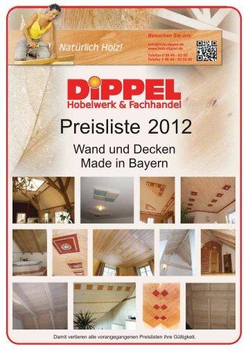 Wand und Decken Preise 2012 - DIPPEL Konrad eK