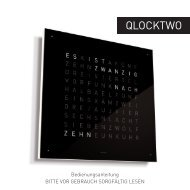 Download Qlocktwo Bedienungsanleitung - EinrichtenOnline.com