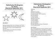Katholischer Kindergarten St. Georg Elternbrief September 2011 ...