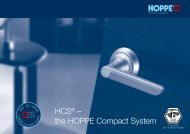 HCS® – the HOPPE Compact System