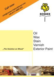 Oil Wax Stain Varnish Exterior Paint - ROSNER