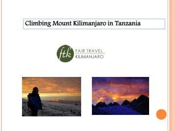 Climbing Mount Kilimanjaro in Tanzania