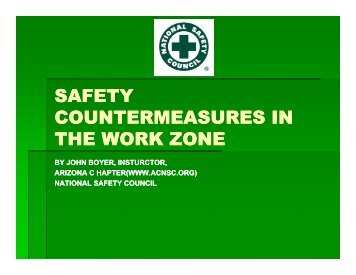 SAFETY COUNTERMEASURES IN THE WORK ZONE - azite
