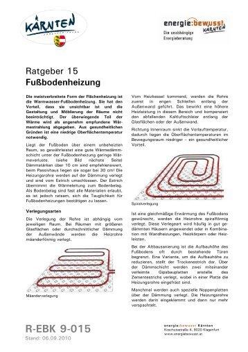 Fußbodenheizung - energiewerkstatt.eu