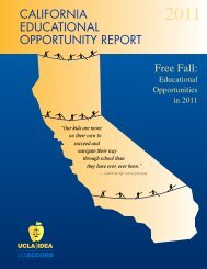 Free Fall: Educational Opportunities in 2011 - UCLA/IDEA