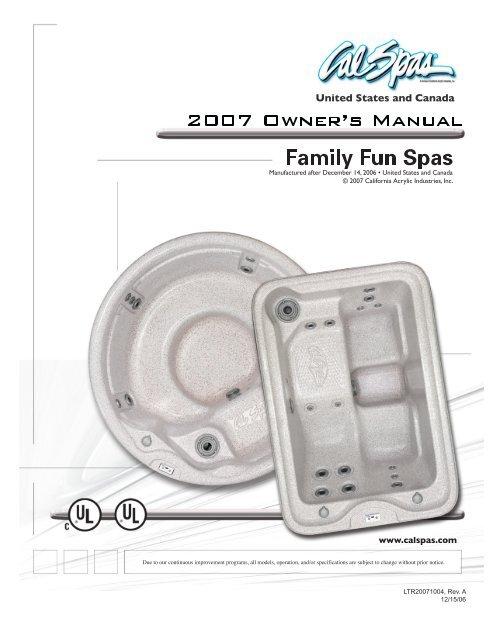 2007 Portable Spa Family Fun Cal Spas, Cal Spa Wiring Diagram