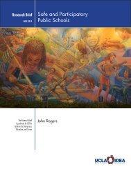 Safe and Participatory Public Schools - UCLA/IDEA